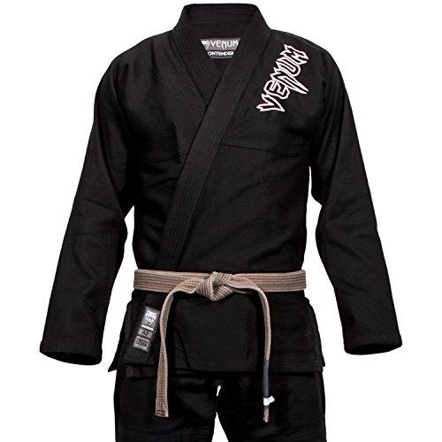 Venum Contender 2.0 Kimono BJJ GI, Unisex Adulto, Negro, A3