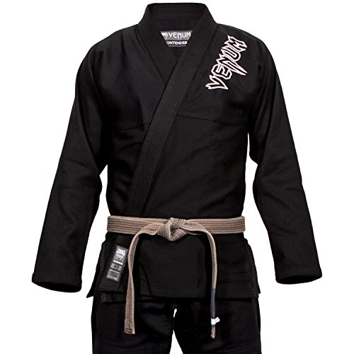 Venum Contender 2.0 Kimono BJJ GI, Unisex Adulto, Negro, A2