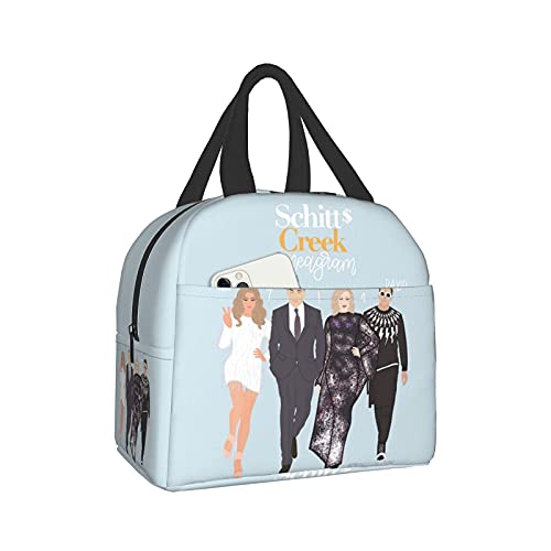 Lunchpaket SchiTt'S Cover CreEk Lunch Bag Tote Lunchbox Insulated Lunch Cooler Box Meal Prep Containers For Woman Man Kids