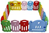 Baby Playpen for Babies Baby Playards 18 Panels Infants Toddler Safety Kids Play Pens Indoor Baby Fence with Activity Board,Blue