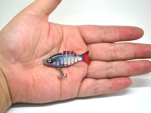 Silver roach realistic FRY Multi Jointed Fishing Lure / Swimbait Bait for perch pike 50mm / 2g / 6 segments