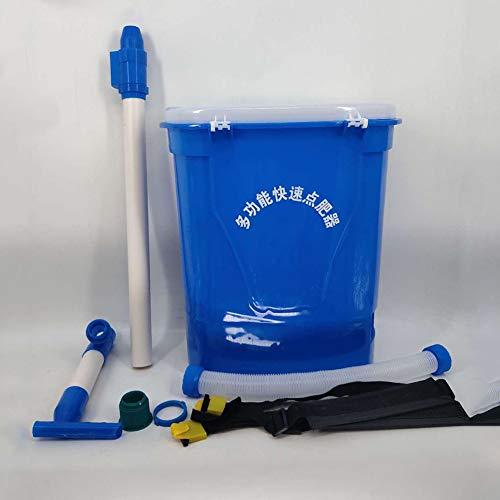 HMJZ Spreader, 25L Seed Spreader Düngemittel Manuelle Spreader für Rucksack, Sprühen für große Flächen, Uniform, sicher und wirksam Fertilizer