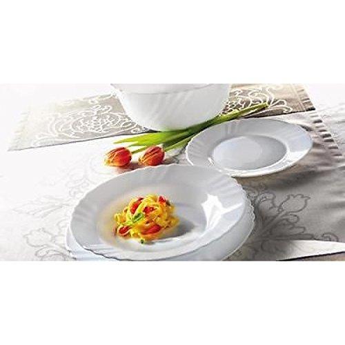 Servicio de platos de mesa de 18 piezas Bormioli Ebro de Arcopal, fabricado en Italia