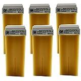 6 pezzi da 100 ml di cartucce di cera di cera calda Premium Titanim Argan per depilazione- Made in Italy