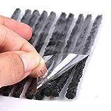 50 Unidades Negras Kit de Mechas para Pinchazos de Neumáticos,Kit Repara Pinchazos Mechas,Kit Reparación Neumáticos Moto y Bicicleta,Mechas para Kit Reparación de Neumáticos.