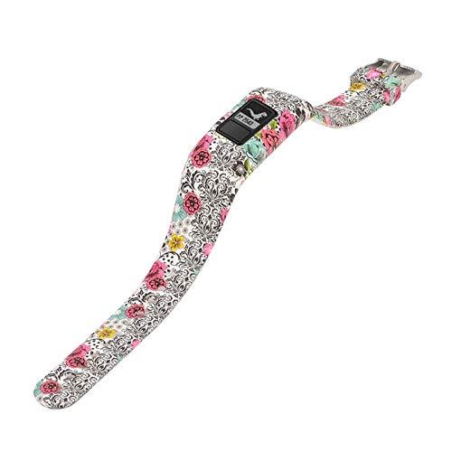 YUANYUAN520 Coloré Imprimé Wristband Bande De Remplacement du Poignet en Silicone for Garmin Vivofit 3 Bracelet Tracker avec Boucle De Sécurité Sport Comfortable (Color : Style2)