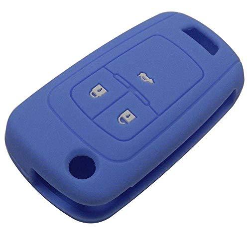 LZZCTB Cubierta de la llave del coche, llavero inteligente del silicón de la rana, cáscara protectora de la entrada sin llave, caja del botón, ajuste para el sostenedor de Chevrolet Cruze
