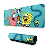 Extended Mouse Pad - Spongebob Squarepants and Friends XXL Gaming Computer Mousepad 31.5 X 11.8 X 0.12inch