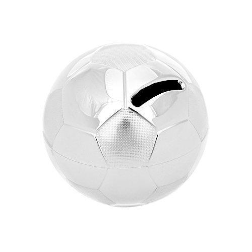 Brillibrum Design Spardose Fußball - Ideal Für Fußballfan - Geschenkidee Für Jungen - Geldgeschenk Kinder-Gelddose Versilbert Anlaufgeschützt