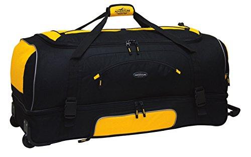Travelers Club 36' ADVENTURE Travel Rolling Duffle Bag, Yellow