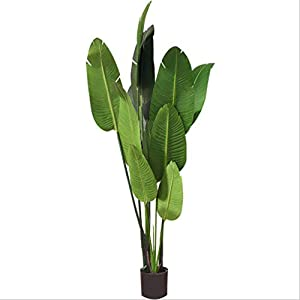 Music Box Decoration Nordic Wind Simulation Traveler Banana Tree Large Artificial Tree Wedding Home Decoration Tree Green Plant 120cm Music Boxes (Color : A)