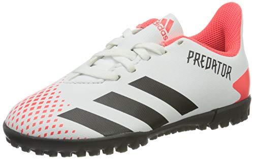 adidas Predator 20.4 TF J, Scarpe da Calcio, Ftwr White/Core Black/Pop, 38 2/3 EU