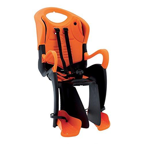 Bellelli Seggiolino Posteriore Tiger Attacco Portapacchi Nero/Arancio (Seggiolini) / Rear Child Bike Seat Tiger Carrier clamp Mount Black/Orange (Seats)