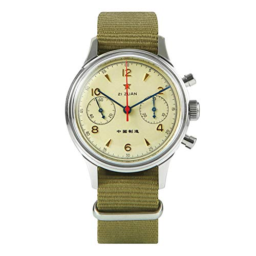 xiaoxioaguo Reloj de hombre de zafiro mecánico cronógrafo reloj impermeable cronógrafo 38 mm 40 mm reloj de los hombres clásico reloj de negocios
