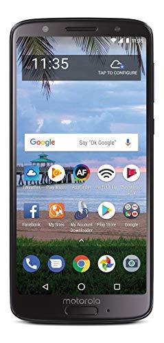 TracFone Motorola Moto G6 4G LTE Prepaid Smartphone (Locked) - Black - 32GB - Sim Card Included - CDMA
