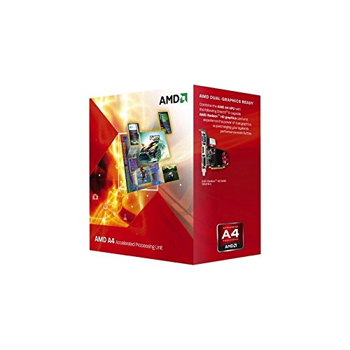 AMD A Series A4-5300 - Procesador (AMD A4, 3,4 GHz, Socket FM2, DDR3-SDRAM, Dual, AMD Radeon HD 7480D)