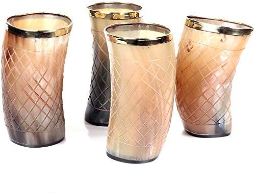 Tazza in ceramica con corno per birra NAAZ WOOD ARTS Mead con supporto Corno di Trono di Spade Ale ispirata al medievale