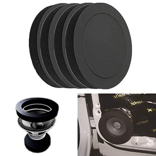 W-L Schallschutzmatte 4PCS 6,5-Zoll-Auto-Tür-Lautsprecher Bass Ring Schaum Woofer Pad Lärm Schallwelle Sealed Car Audio Lautsprecher Schall Cotton