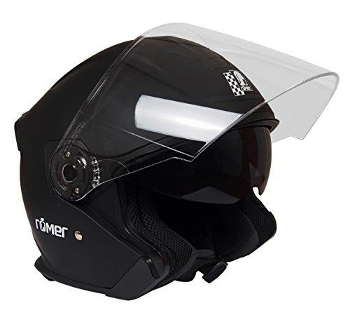 Römer Helmets Motorradhelm Koblenz, Matt Schwarz, Größe L