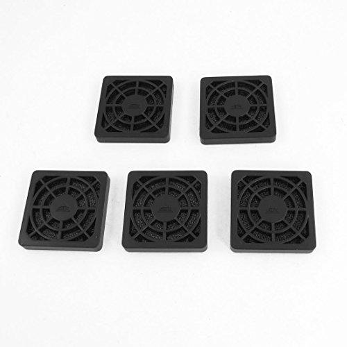 DyniLao 5 piezas de computadora de escritorio a prueba de polvo de plástico lavable 4 cm filtro de escudo de ventilador negro