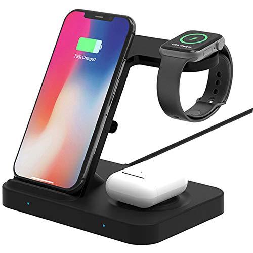AXDNH 5 en 1 Estación de Carga de Cargador inalámbrica 10W Compatible con Galaxy Watch Gets Buds/iPhone Iwatch Airpods Pro