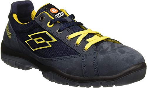 Lotto Works Q1997 Jump 500 S1P SRC - Scarpa Antinfortunistica, Blu/Giallo (Aviator/Yellow), 43 EU