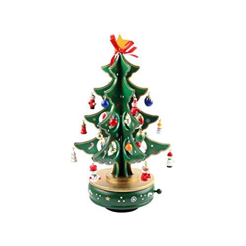 JiuRong Albero Di Natale In Legno Fai-Da-Te Per Bambini Con Carillon Di Natale Campane In Piedi Ornamento Per La Decorazione Del Partito Di Natale