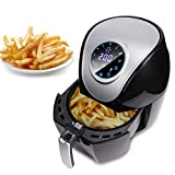 Dancal Elettrodomestici da Cucina, 5L Smart Touch Screen per Uso Domestico Friggitrice ad Aria Senza Fumo Forno Multifunzionale Spina UE 220V