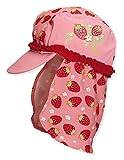 Playshoes Mädchen UV-Schutz Erdbeeren Mütze, Mehrfarbig (original 900), Medium (Herstellergröße: 51cm)