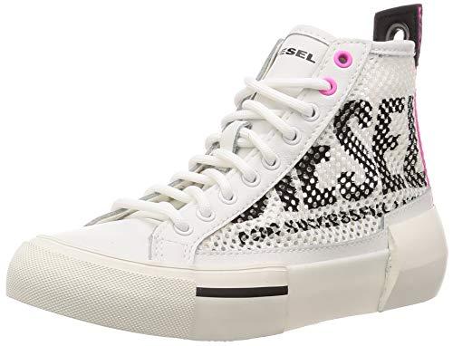 Diesel Damen S-DESE MID Cut W-Sneaker m Turnschuh, Stern weiß/pink Fluo, 38 EU