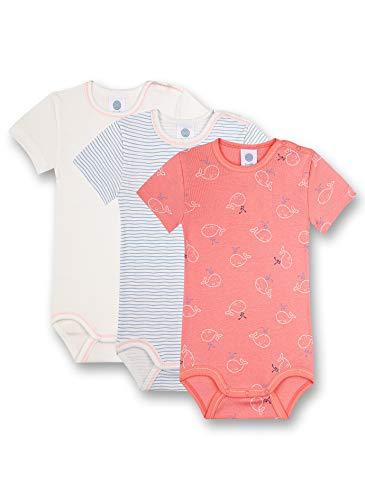 Sanetta Body im Set Rot Conjunto de Ropa Interior para bebés y niños pequeños, Sharon, 62 cm