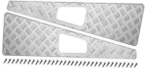 Rejilla de entrada de la cubierta de ventilación La Ingesta 1pair Inoxidable Frente Aire Placa Laterales Capó Motor Cubierta Fit For 1/10 Traxxas TRX4 Land Rover Defender RC Orugas , Cubierta Motor To