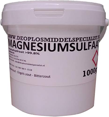 DE OPLOSMIDDELSPECIAL = 1000 g sulfate de magnésium, sel épsome, sel bitterzal (MgSO4.7H2O, Technical)