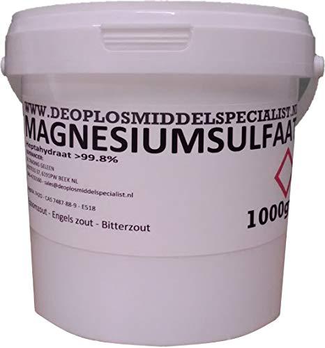 DE OPLOSMIDDELSPECIALIST 1000gr Magnesiumsulfat, epsomsalz, bitterzalz (MgSO4.7H2O, Technical)