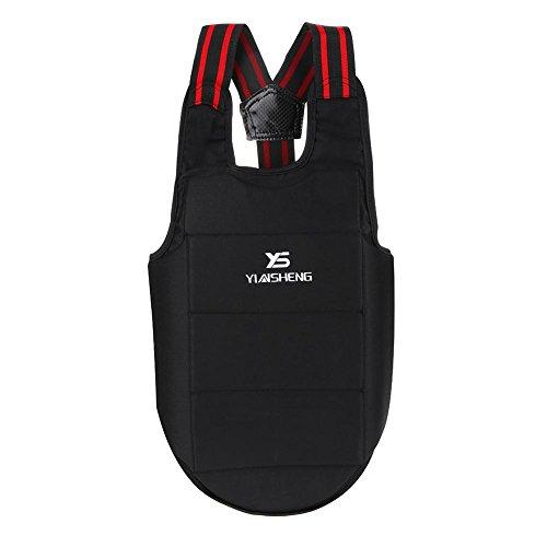 Alomejor1 Boxen Brustschutz Karate Weste Taekwondo Brustschutz für Kinder Erwachsene Brust Schulterschutz(L)