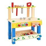 ROBUD Werkbank Kinder Holz I Kinder Werkzeugbank I Werkbank Kinder ab 3...