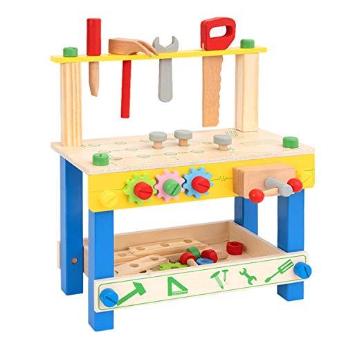 ROBUD Etabli pour Enfant I Etablie Bricolage Enfants I établi pour Enfants en Bois avec Outils et Accessoires