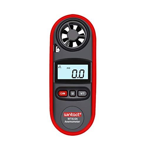 Zcyg Anemometer Wind Speed Meter Digital LCD Handheld IP67 wasserdichte Windmesser Luftgeschwindigkeitsmessung Thermometer, Windsurfen, Segeln, Angeln