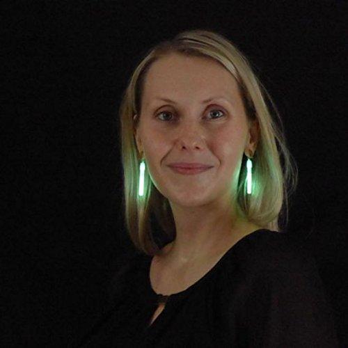 Decotrend-Line 281003 - Pendientes LED luminosos con clip (verdes), color verde