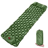 Wolf Walker Army Sleeping Pads for Camping, Built-in Pump Inflatable Sleeping Mat with Pillow,...