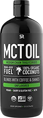 Premium MCT Oil from Organic Coconuts – Unflavored from Sports Research
