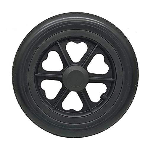 YLLN Neumático de Goma Maciza, 12 pulgadas, 12 1/2X2 1/4 Pu Neumáticos sólidos microporosos, sin mantenimiento, resistentes al desgaste, antideslizantes, adecuados para cochecitos/sillas de ruedas, ne