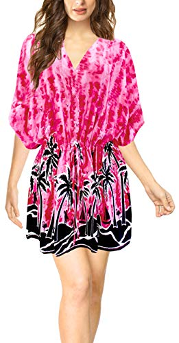 LA LEELA Abito Prendisole Beachwear Lettino da Sera delle Donne Casuale Migliori occultamenti Rosa