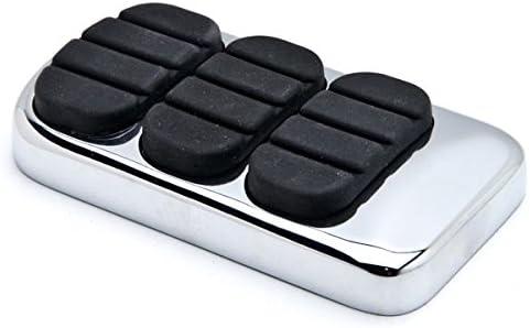 Krator Chrome Brake Pedal Pad NonSlip Cover Rubber free Black Compati Ultra-Cheap Deals