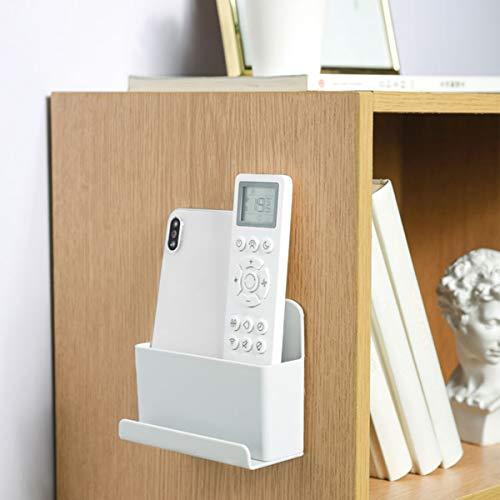 DEDC Caja de Almacenamiento de Control Remoto en Pared, Organizador de Soporte de Montaje de Plástico PP, para Teléfono Inteligente, Peine, Cepillo de Maquillaje, Gris (12 * 5,2 * 9,6 cm)(1pc)