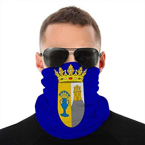 fgdhfgjhdgf 492 Funda de Microfibra/Cuello Gaiter Head Wrap, Cubierta Escudo Bandera de zafra en Extremadura de españa Cubierta de protección