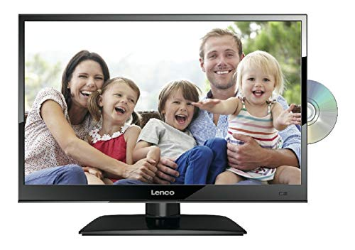 Lenco DVBT2 Fernseher DVL-1662BK 16 Zoll (40 cm) mit DVD-Player und 12 Volt Kfz-Adapter, Schwarz