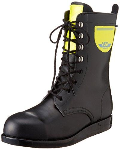 [ノサックス] 安全靴 舗装靴 HSK長編上 高輝度反射付 HSK207反射付黄色 メンズ 黒 JP JP26cm(26cm)