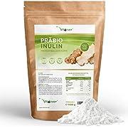 Präbio Inulin Pulver - 1100 g (1,1 kg) - Hoher Ballaststoffgehalt - Präbiotikum - Rückstandskontrolliert - Herkunft Belgien - Natürlich aus der Chicoree Wurzel - 100% Vegan