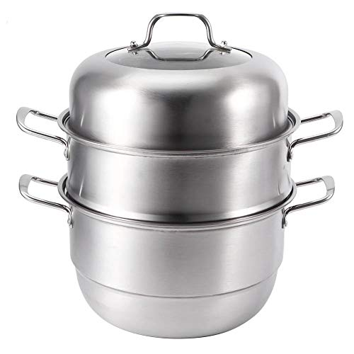 Steamer Pot, 3 Layer Steamer Cooking Pot Cookware Ustensiles en acier inoxydable Multi-layer Soup Cooker for Kitchen Use